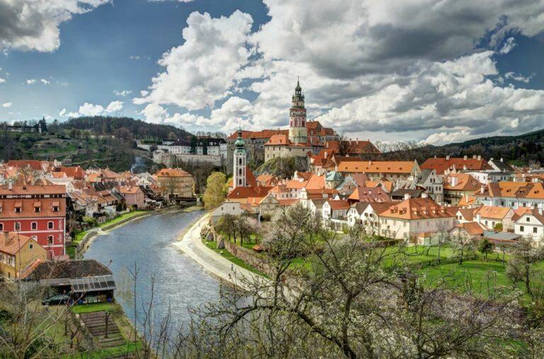 Pohled na centrum Českého Krumlova