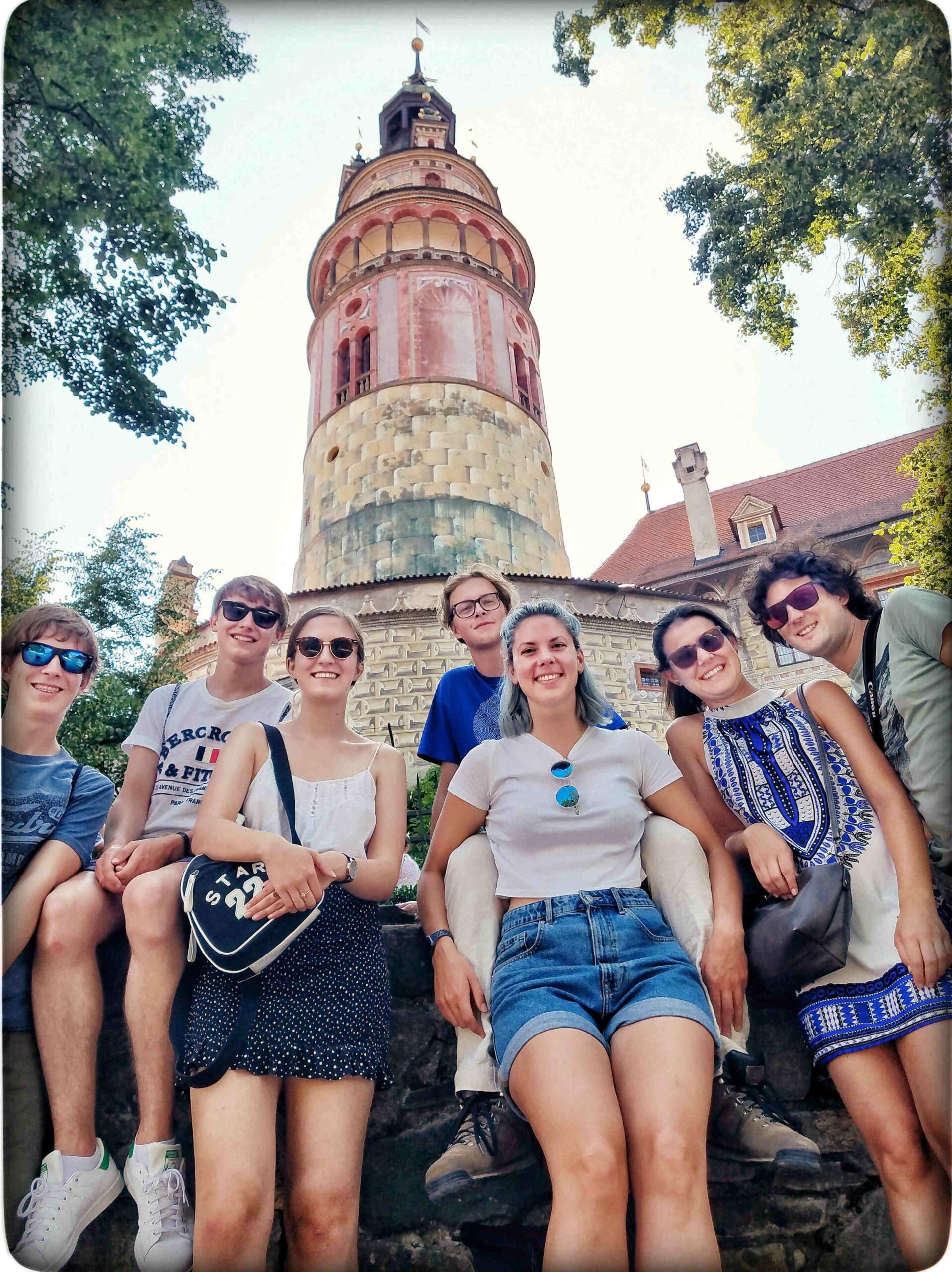 První nádvoří zámku Český Krumlov
